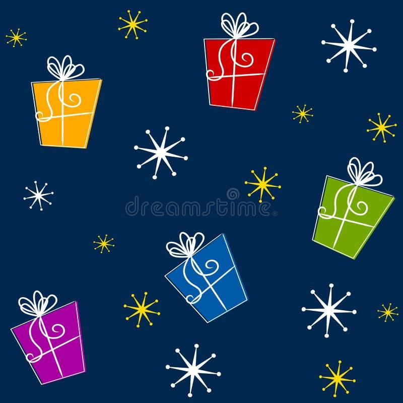 tileable julgåvor vektor illustrationer