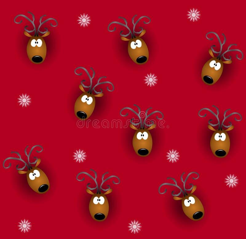 Download Tileable Reindeer Heads stock illustration. Image of backgrounds - 6855601