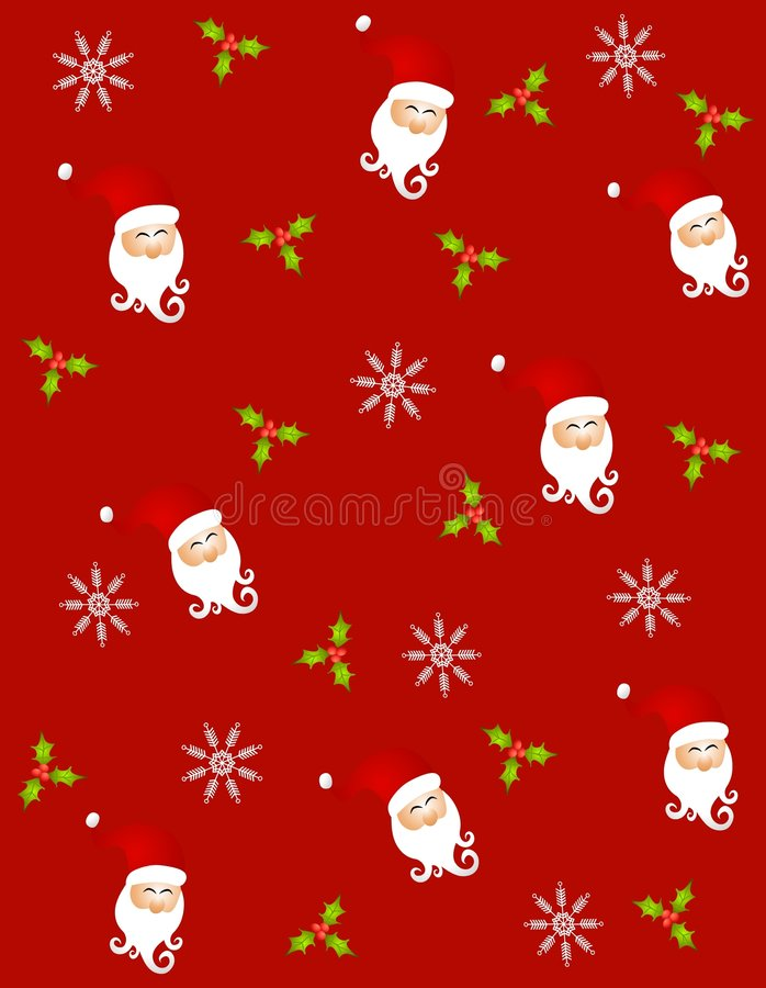 Tileable Santa Claus 3 stock illustration