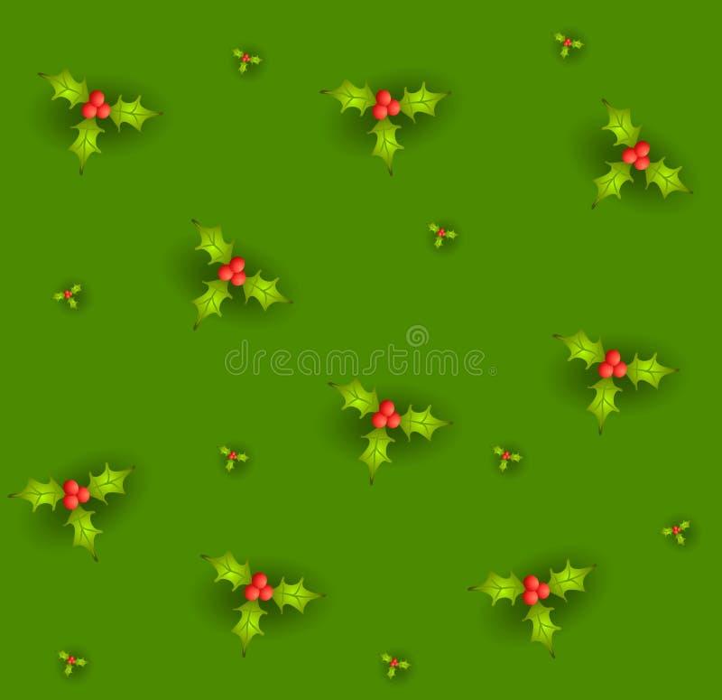 Tileable Stechpalme-Blätter stock abbildung