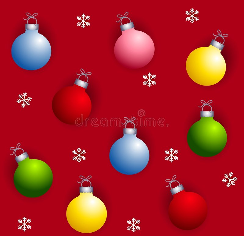Download Tileable Xmas Ornaments stock illustration. Image of christmas - 6855591
