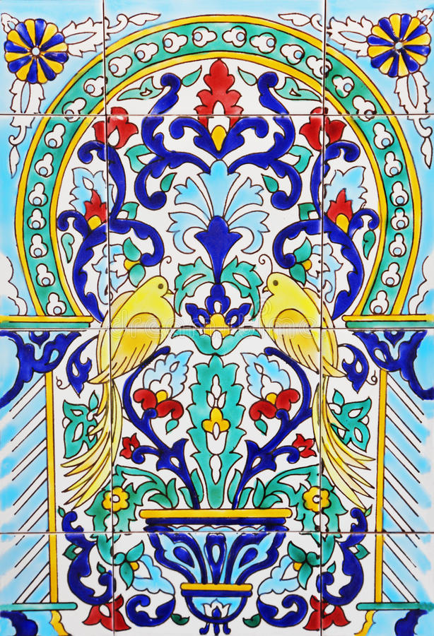 Tiled background. With oriental ornaments stock image