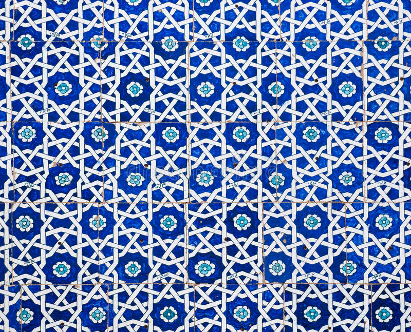 Tiled background. Oriental ornaments from Uzbekistan royalty free stock photography