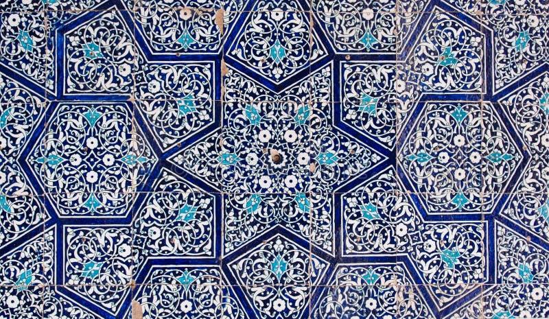 Tiled background. Oriental ornaments from Uzbekistan royalty free stock photo