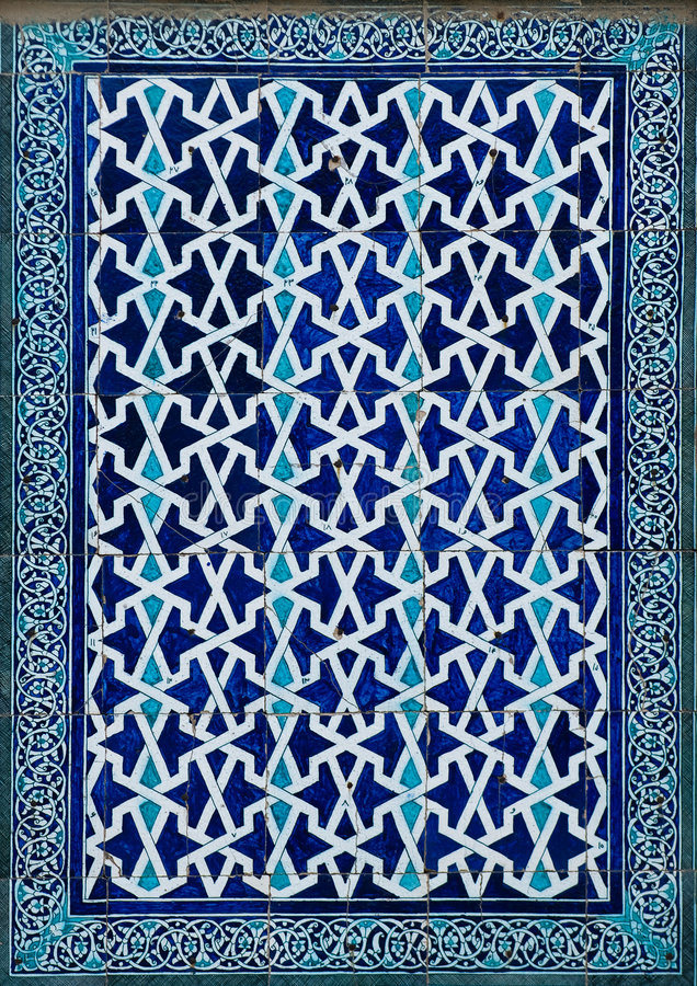Tiled background. Oriental ornaments from Uzbekistan stock photography