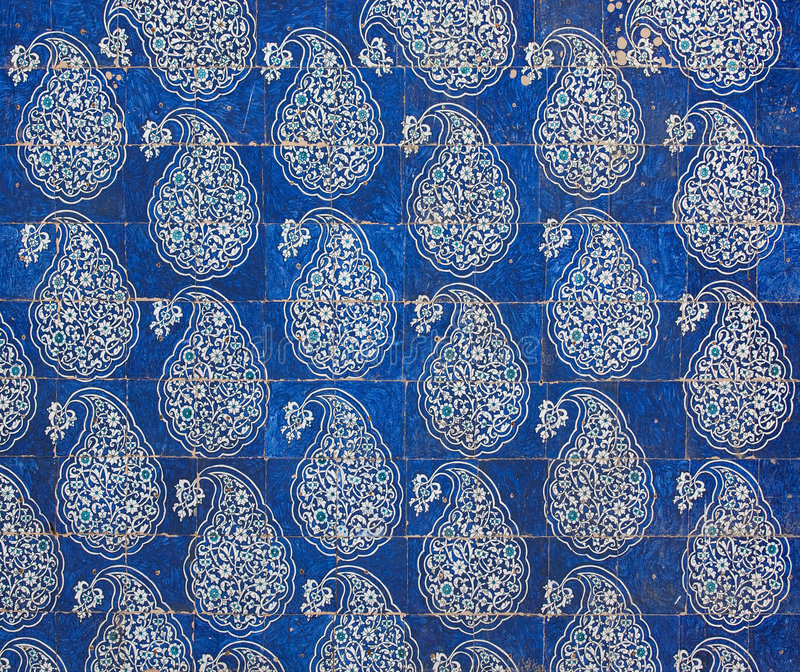 Tiled background. Oriental ornaments from Uzbekistan royalty free stock photos