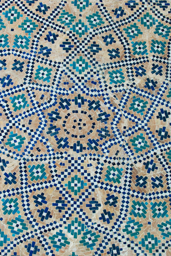 Tiled background. Oriental ornaments from Uzbekistan stock image
