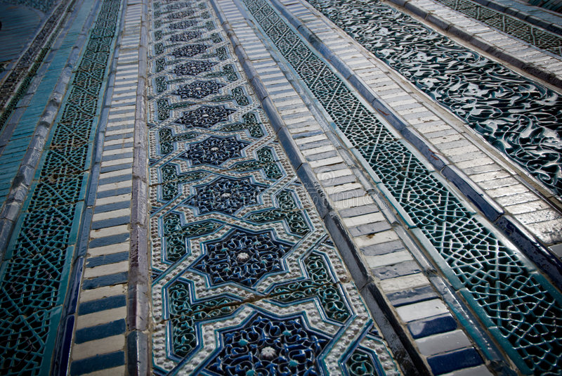 Tiled background. Oriental ornaments from Uzbekistan royalty free stock photos
