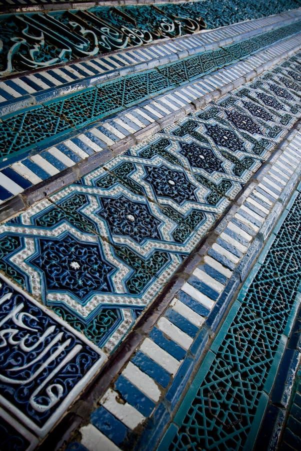 Tiled background. Oriental ornaments from Uzbekistan stock photos