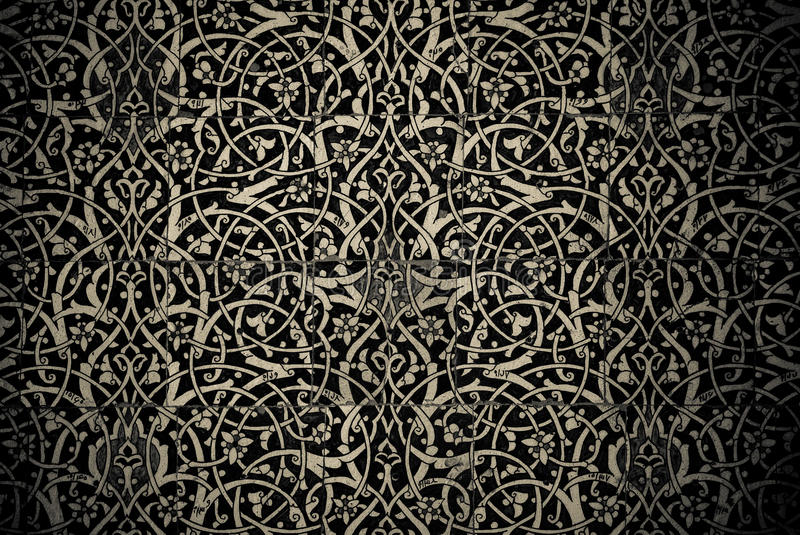 Tiled background with oriental ornaments. Fanciful tiled background with oriental ornaments royalty free stock image