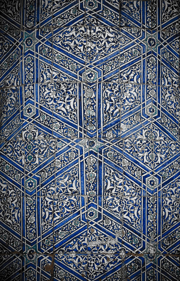Tiled background with oriental ornaments. Fanciful tiled background with oriental ornaments stock image
