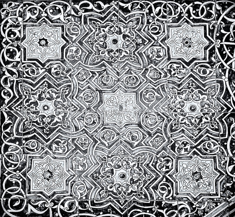 Tiled background with oriental ornaments. Tiled textured background with oriental ornaments stock images