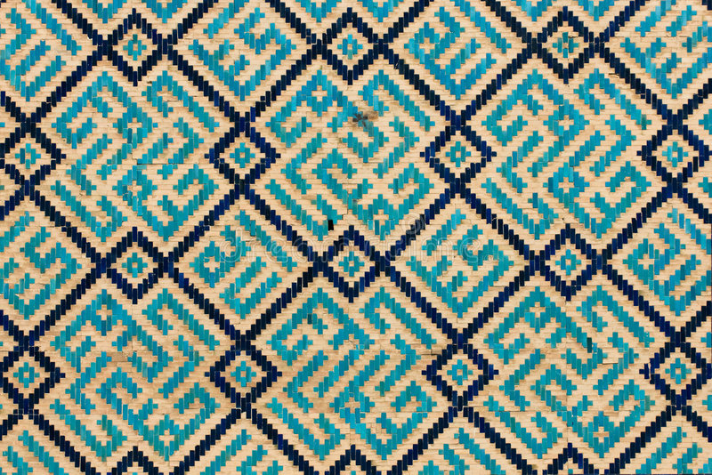 Tiled background, oriental ornaments from Uzbekist royalty free stock photography