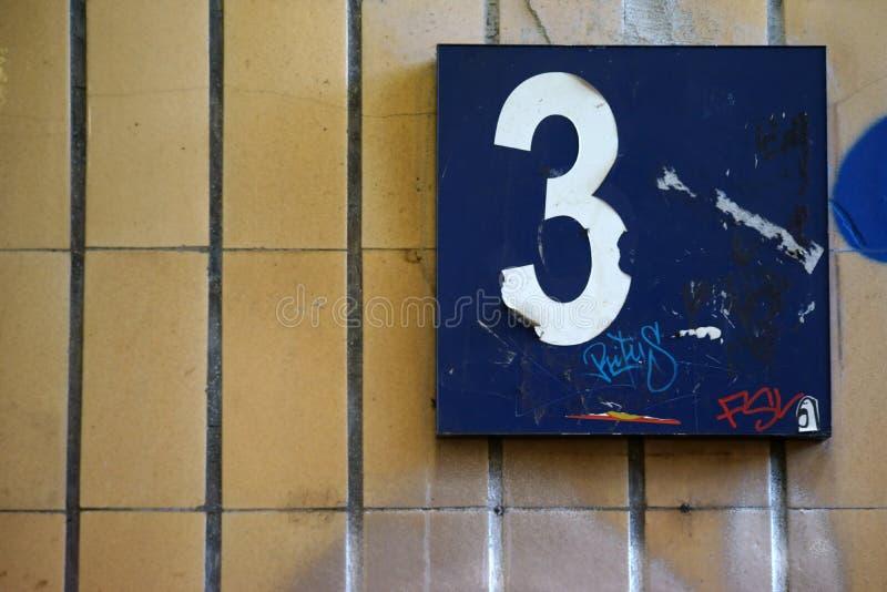 Scribbled platform number stock photos