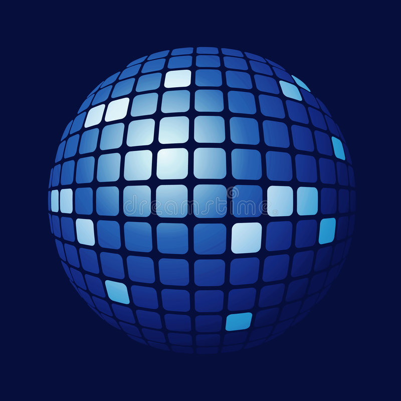 Free Tiled Blue Sphere Royalty Free Stock Photo - 4477715