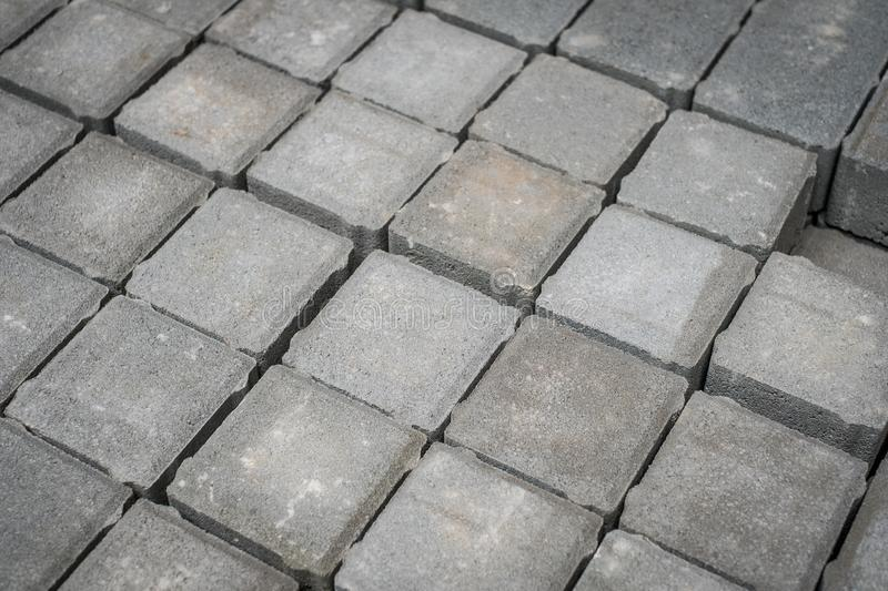 Tiled cobble stones, pavement stone - construction industry -. Tiled cobble stones, pavement stone - construction industry stock photos