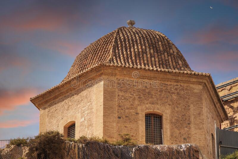 Tiled Dome Roof at Dusk stock images