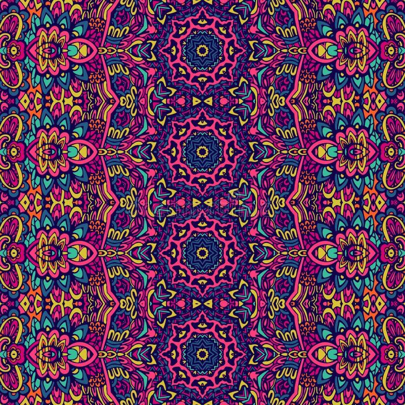 Abstract geometric mosaic vintage seamless pattern ornamental. royalty free illustration