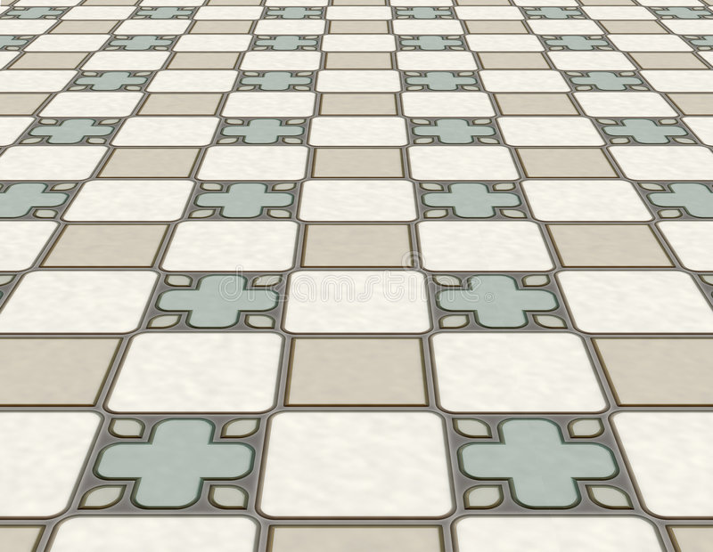 Download Tiled Floor Stock Illustration Of Bathroom