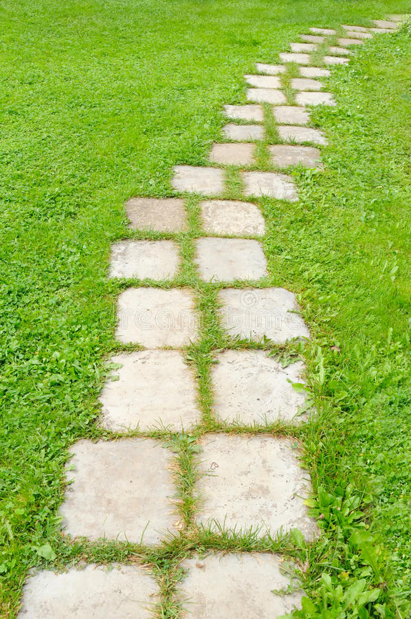 Download Tiled Garden Path stock photo. Image of pathway, natural - 20608876