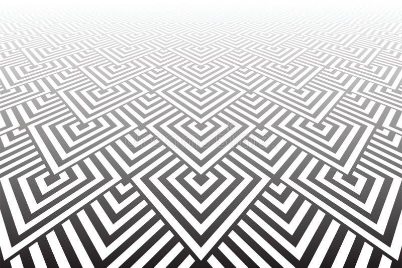 Tiled ha strutturato la superficie Geometrico astratto illustrazione vettoriale