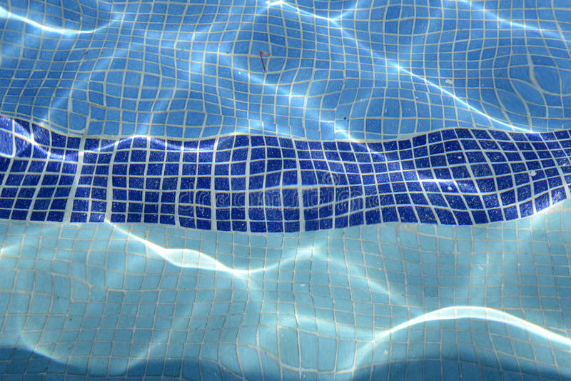 Tiled inground pool royalty free stock image