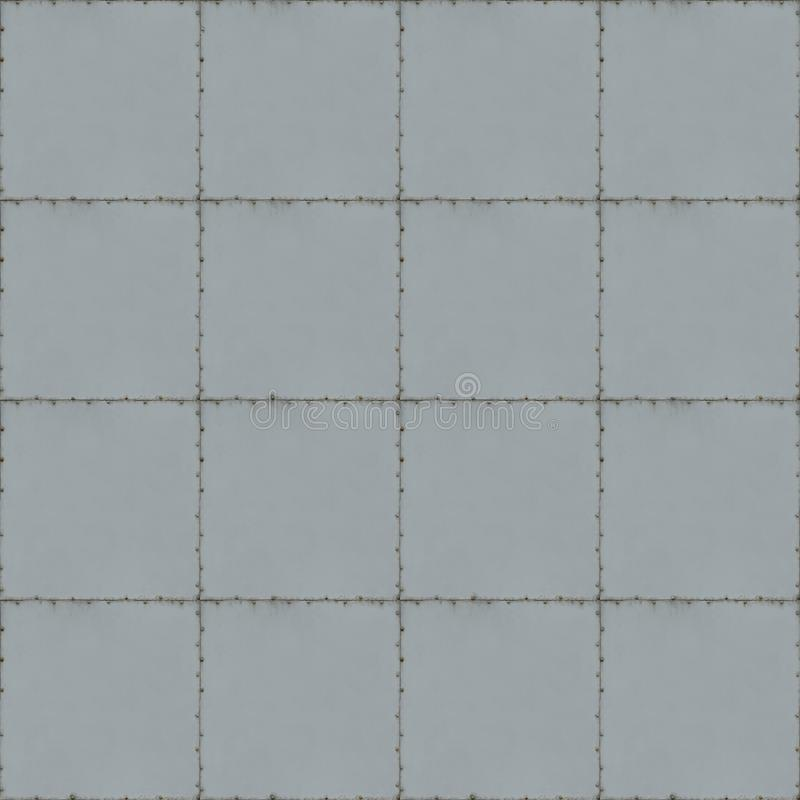 Tiled Metal Background With Seams and Screws. Tiled metal background texture with seams and screws stock images