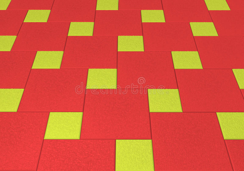 Tiled mosaic concrete pavement of the road. Tiled mosaic concrete pavement of the road royalty free stock photo