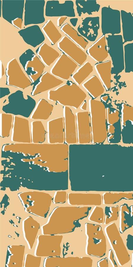 Tiled mosaic. Mosaic masonry. Vintage background. Vector illustration eps-10 royalty free stock images