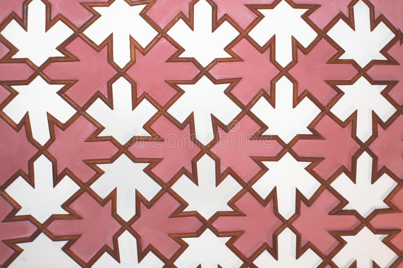 Tiled Panel Wood Mosaic. Wooden Interior Design Plank Pink Square Background stock photos