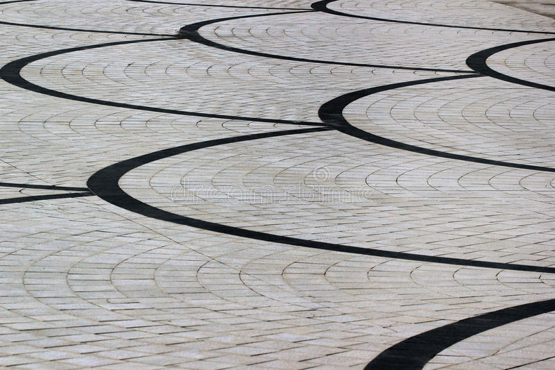 Tiled pattern of street pavement.  royalty free stock photos