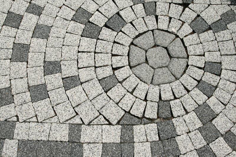 Tiled pavement. Sett blocks background texture. Tiled, decorative pavement stock photos