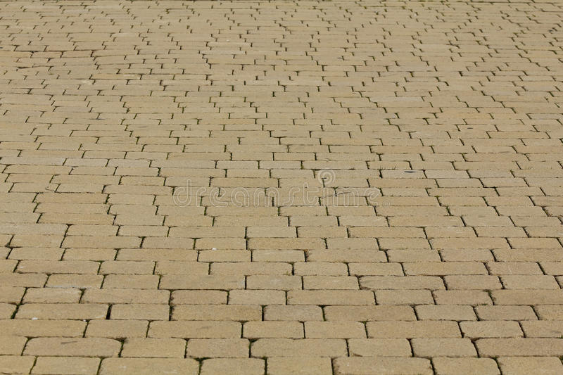 Tiled pavement. In a pedestrian area royalty free stock image
