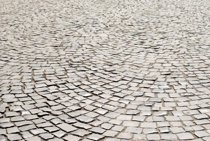 Tiled pavement background. Circle paving. royalty free stock photo