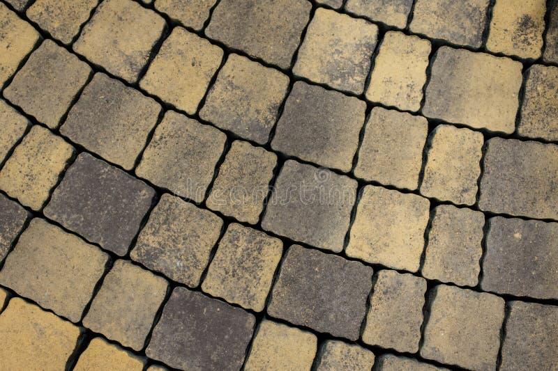 Tiled pavement background. Circle paving. Tiled pavement texture background. Circle paving ground stock photo