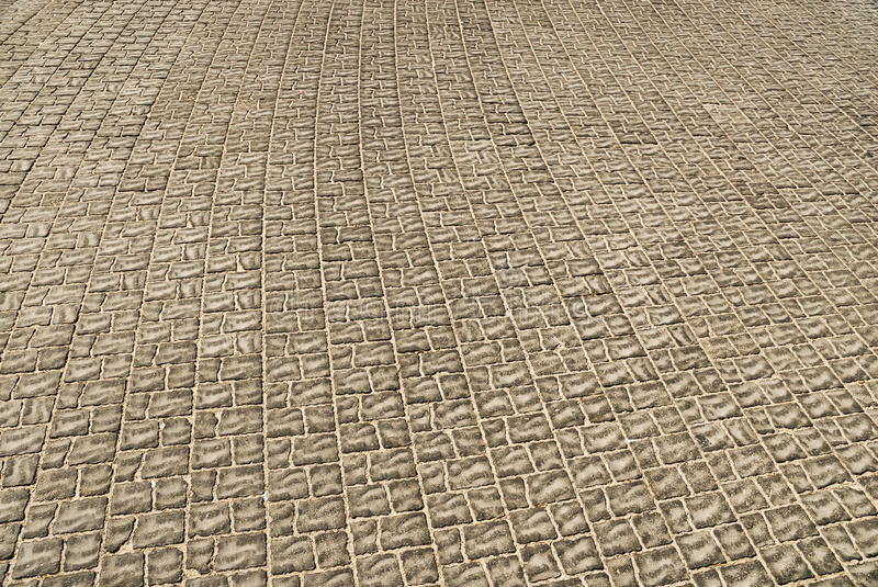 Tiled pavement background. Close-up royalty free stock photo