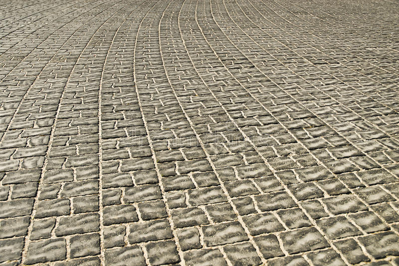 Tiled pavement background. Close-up stock photo