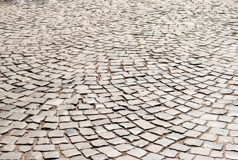 Tiled pavement background. Circle paving royalty free stock image