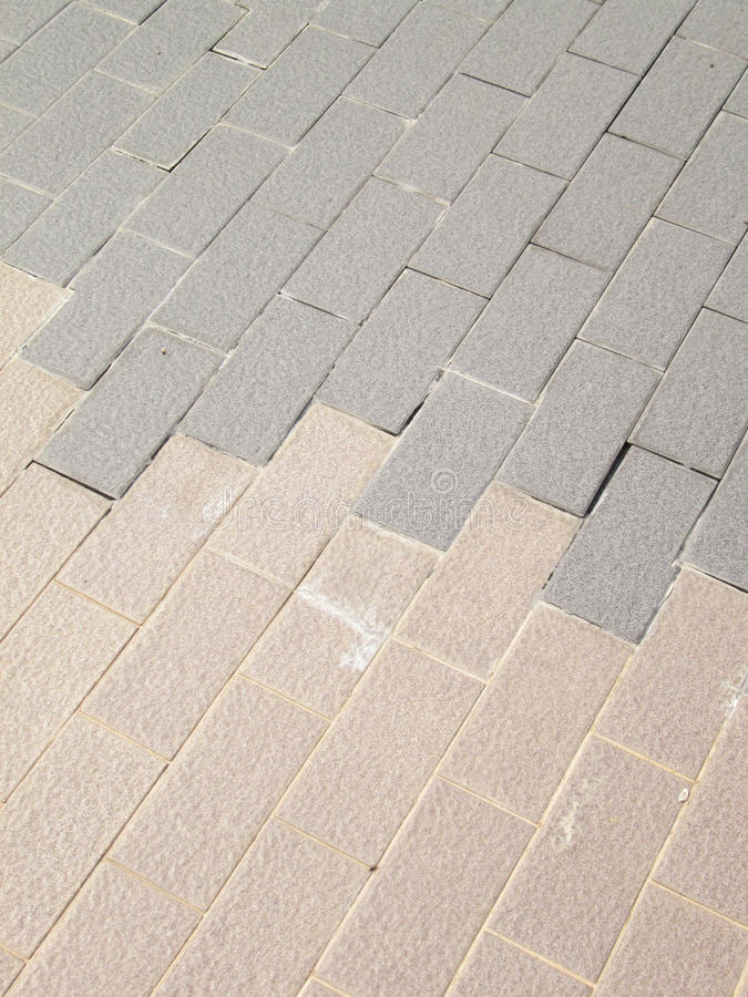Tiled Pavement. Old with crack royalty free stock photo
