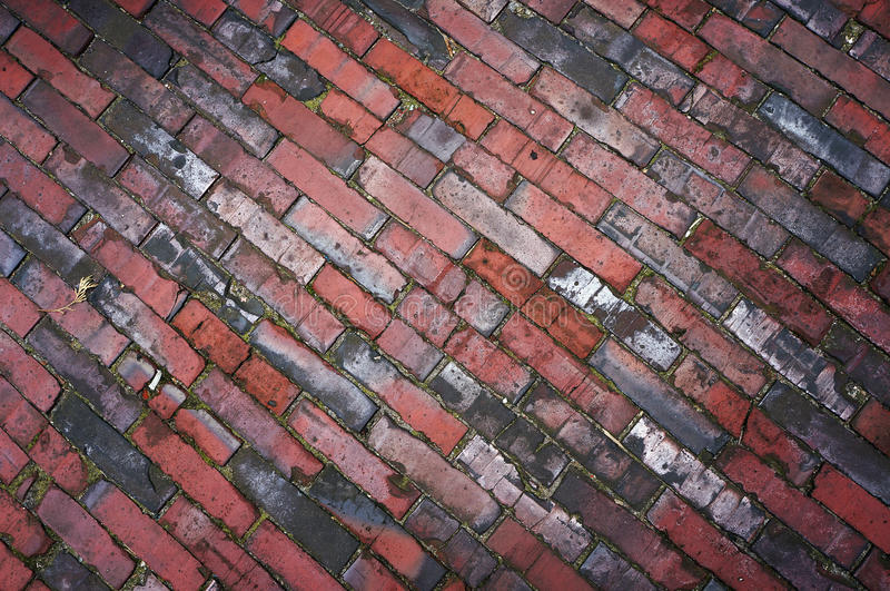 Tiled pavement texture. Abstract diagonal background royalty free stock photography