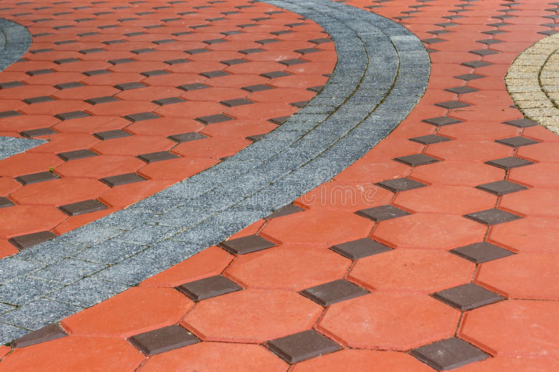 Tiled paving stones colorful pattern. Tiled paving stones colorful and pattern modern royalty free stock photo