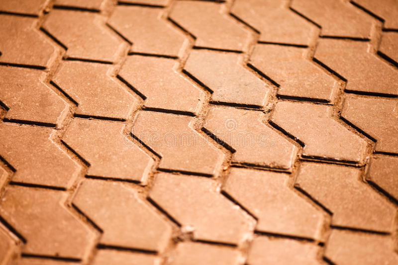 Tiled road texture stock photo