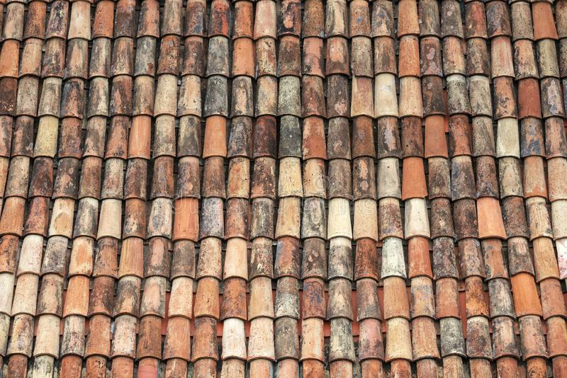Tiled roof background royalty free stock photo
