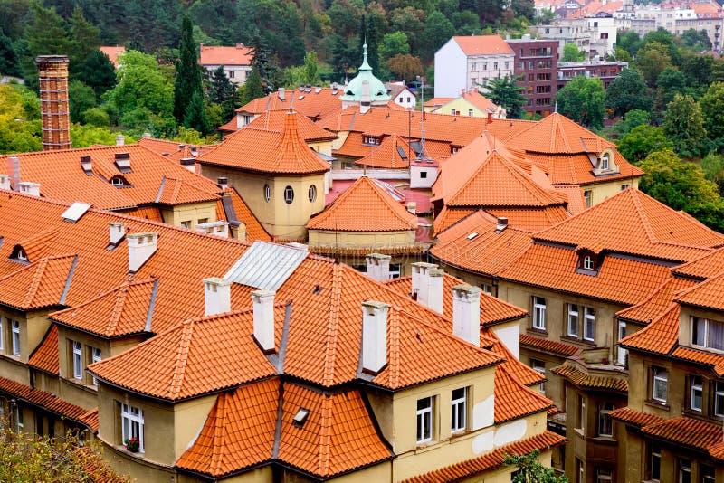 Tiled Roofs in Prague