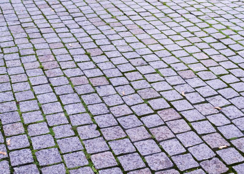 Tiled sidewalk with perspective view. background, urban. Paved tiled sidewalk with perspective view. background, urban stock image
