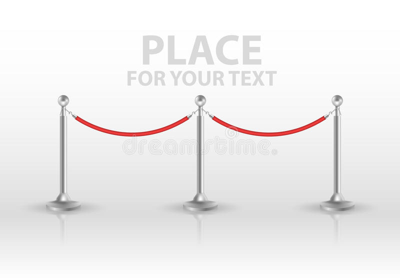 Tiled stand barriers isolated on white background. vector. EPS10 vector illustration