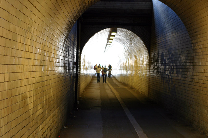 Tiled Tunnel Royalty Free Stock Images