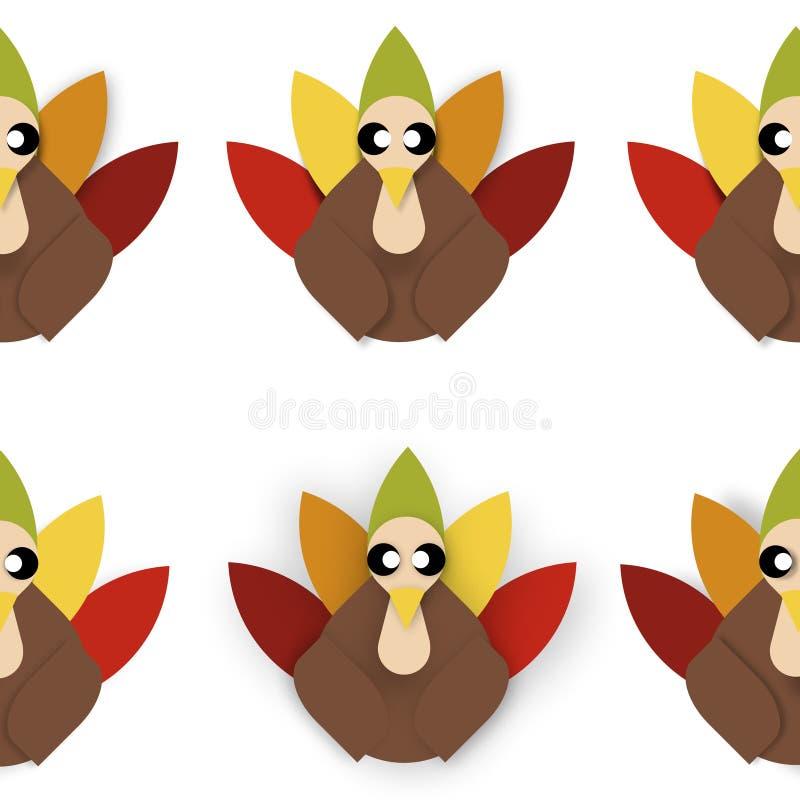 Tiled turkeys stock images