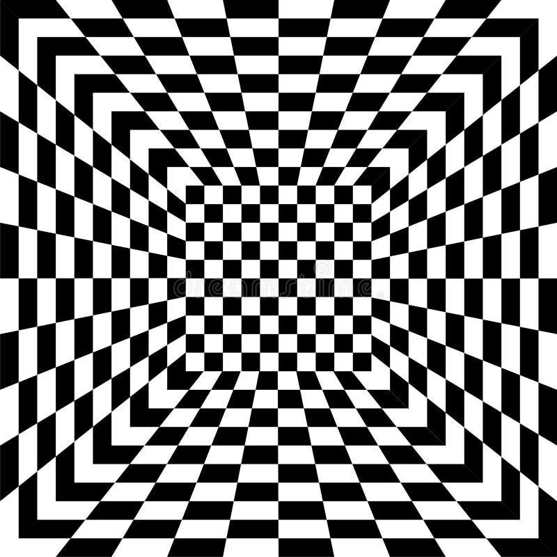 Tilel inconsútil blanco y negro, vector stock de ilustración