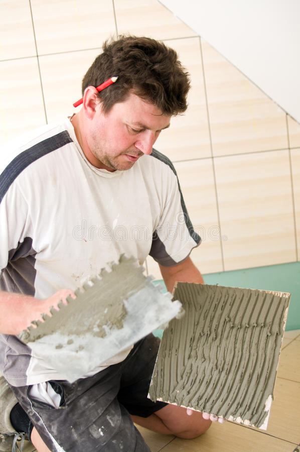 Download Tiler stock photo. Image of improvement, home, contractor - 15567216